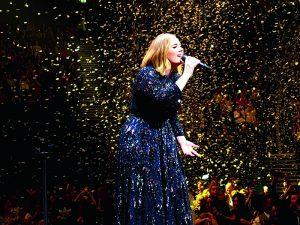 Adele confetti - Caroline Corbett
