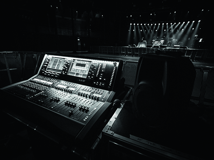 FOH with the Allen & Heath dLive system.