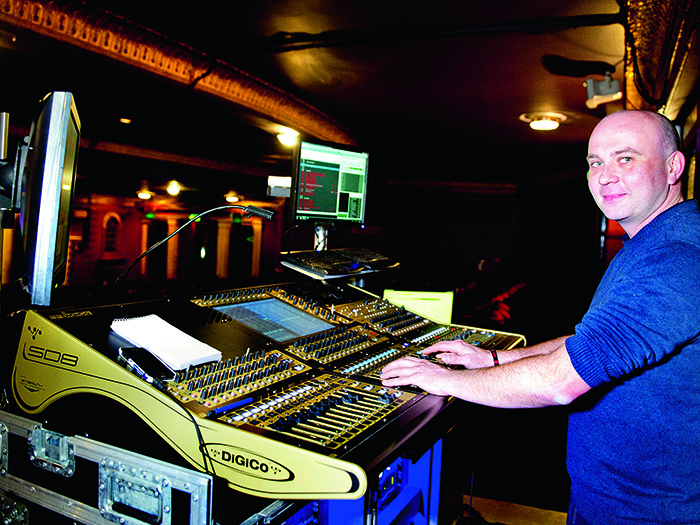 """Touring Head of Sound, Piers Archer, said he can use the Neo Geo M6 system in each venue """"without compromise."""" He mixed the live show from FOH on a DiGiCo SD8."""