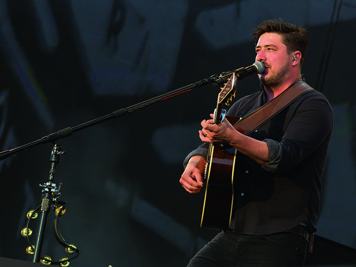 Marcus Mumford still knows his way around an acoustic guitar.