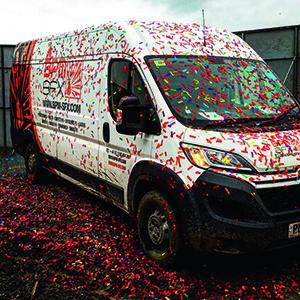 Glastonbury Van Confetti pic