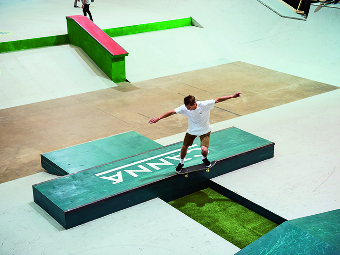 Skateboarders came from across the globe to compete.