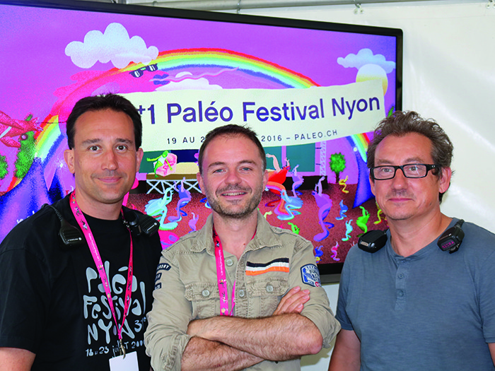 Video Manager Jean-Marc Robyr, LD Franck Bonnier and Alabama's Joël May.