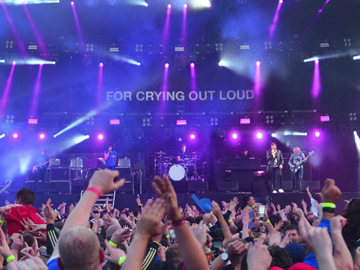 The band played for two nights at the King Power stadium which marked the first time the grounds had hosted a music event.