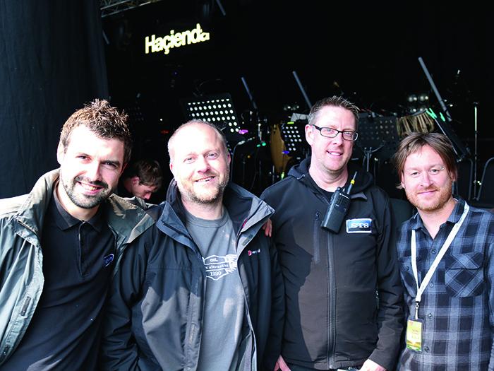 Robert McCourt, Stage Tech, John Ginley, LD, Richard Knowles, Stage Manager, Matt Jones, Production Manager.