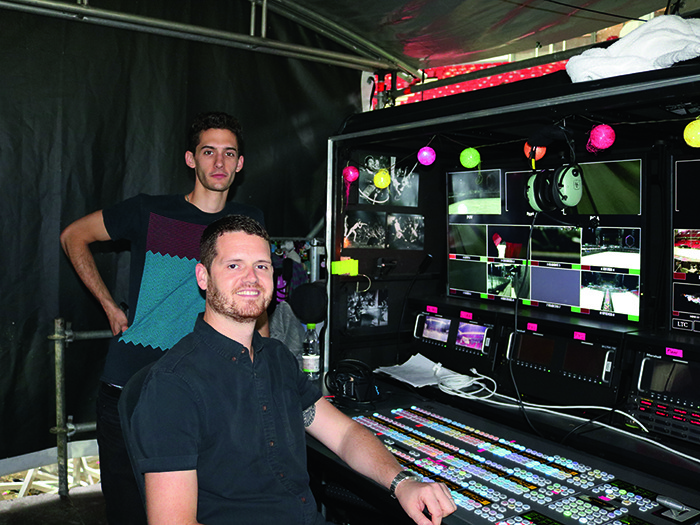 Video Programmer Leo Flint and Video Director Ben Miles.