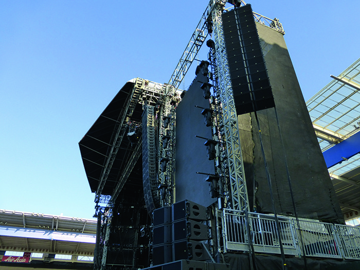 The Leicester gig was pulled off with an abundance of top industry suppliers including Star Events for staging, ER Productions for laser displays and Britannia Row for sound reinforcement.