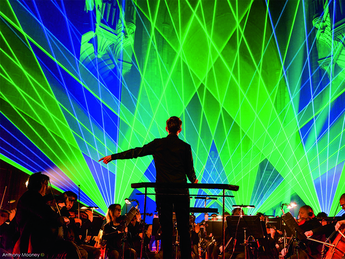 A stunning laser show was executed by AC Lasers.