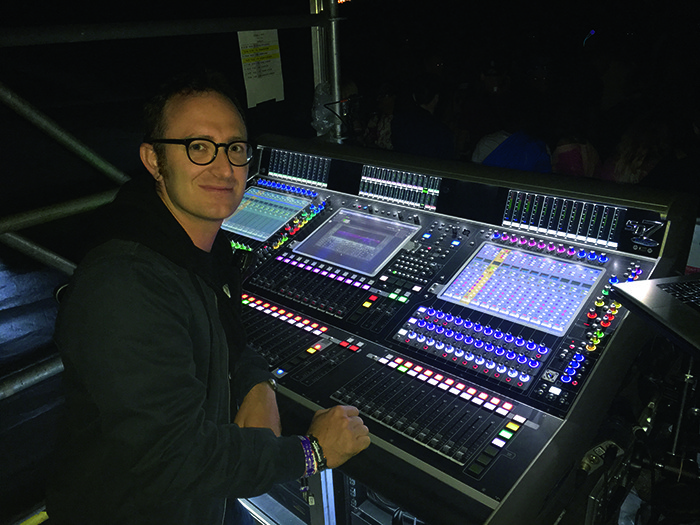 FOH Engineer Fab Piazzini used a Major Tom supplied DiGiCo SD7 console and Eazy10.