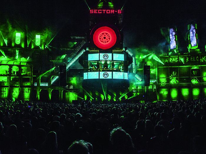 Funktion-One's Vero system made its BoomTown debut and was gratefully received by the production team.