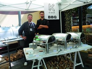 The Kiosk team provided a number of options including a BBQ pit.