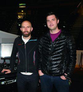 Aerial team, Kim Swaden-Ward and Ross Maynard