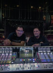FOH Engineer Jon Lemon and Vic Wagner