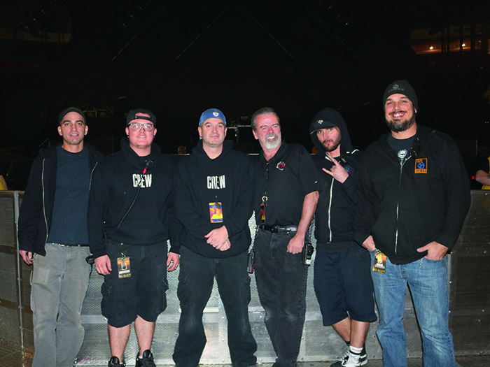 The crew from Strictly FX, Tony Alaimo, Alec Lopez, Ron Bleggi, Dave Yarbrough, Joey Atkinson, Nick Curry.