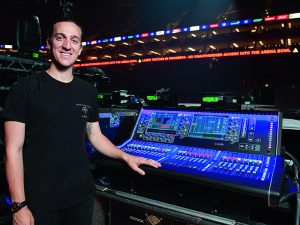 Jared Daley with his Allen & Heath set up