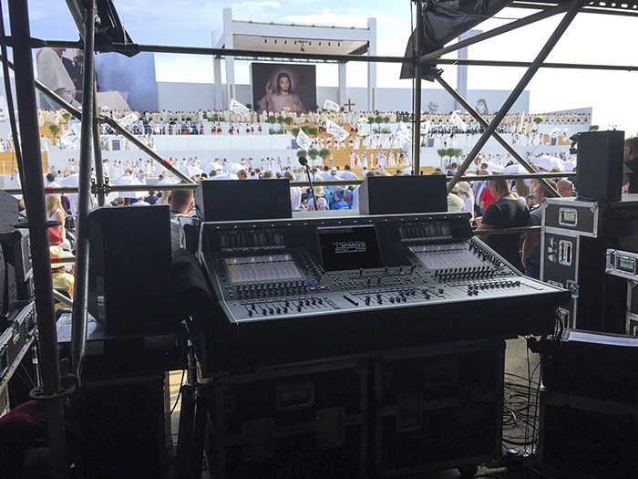 digico sd5 s manage audio at world youth day 2016 tpi. Black Bedroom Furniture Sets. Home Design Ideas