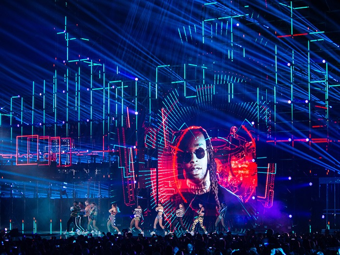 Lighting / Rigging Technology for MTV EMA Supplied by PRG XL