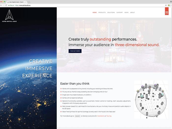 Astro Spatial Audio Debuts New Website | TPi