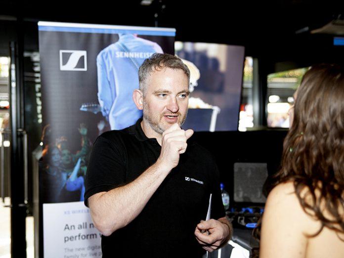 Sennheiser's Andy Egerton at London's International Busking Day