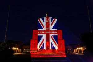 Peachy Productions illuminates Guildford Cathedral for VE75.
